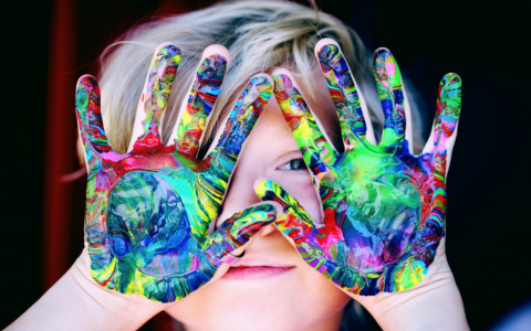 Child Painted Hands